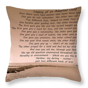 Legacy Of An Adopted Child Throw Pillow