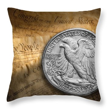Coins Throw Pillows