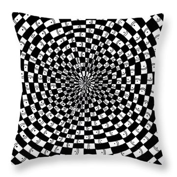 Legend Of An Abstract Artist Throw Pillow