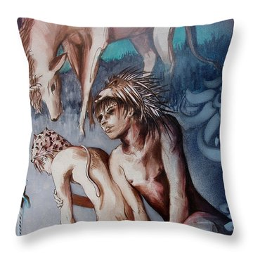 Legend Of Hedgehog Boy Throw Pillow