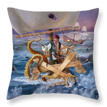 Legendary Pirate Throw Pillow