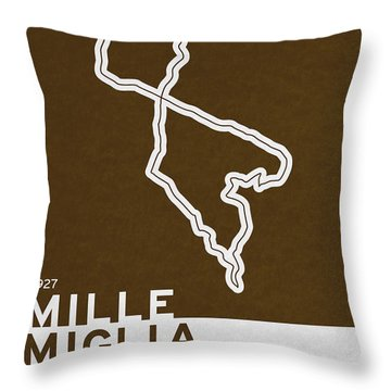 Legendary Races - 1927 Mille Miglia Throw Pillow by Chungkong Art