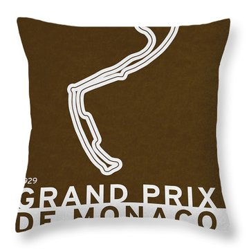 Legendary Races - 1929 Grand Prix De Monaco Throw Pillow by Chungkong Art