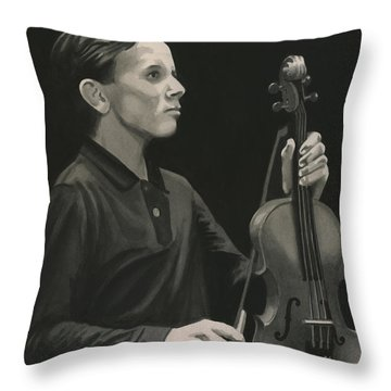 Legendary Violinist Throw Pillow