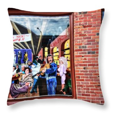Legends Bar In Downtown Nashville Throw Pillow by Dan Sproul