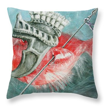 Throw Pillow featuring the painting Legionnaire Fish by Marina Gnetetsky
