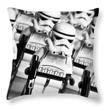 Lego Storm Trooper Army Throw Pillow