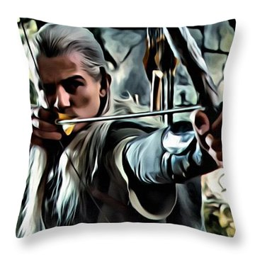 Legolas Throw Pillow by Florian Rodarte