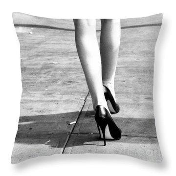 Legs New York Throw Pillow
