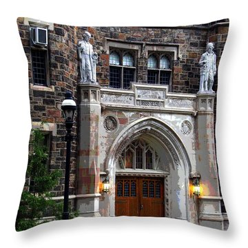 Lehigh University Bethlehem Packard Laboratory Throw Pillow by Jacqueline M Lewis