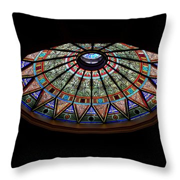 Lehigh University Linderman Library Rotunda Window Throw Pillow by Jacqueline M Lewis
