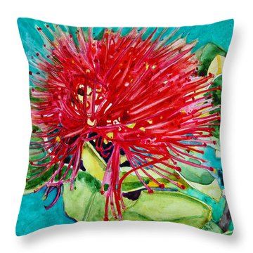 Lehua Blossom Throw Pillow