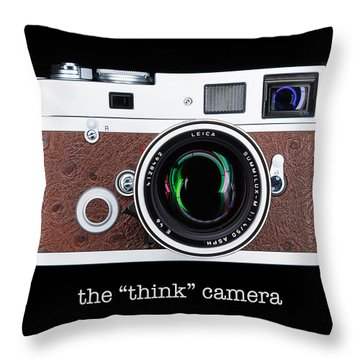 Leica M7 Throw Pillow by Dave Bowman