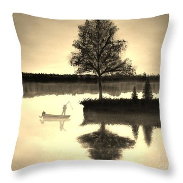 Leisure Time Throw Pillow by Tim Townsend