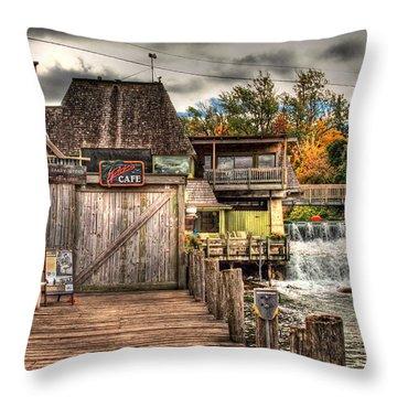 Leland Dock And Dam  Throw Pillow