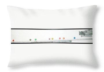 Lemmings Throw Pillow by A  Robert Malcom