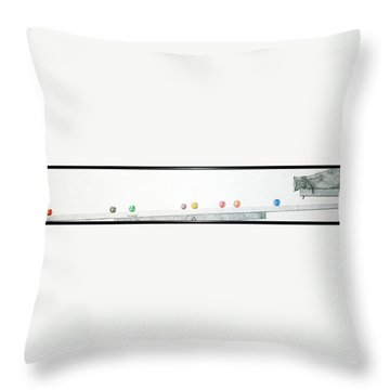Throw Pillow featuring the drawing Lemmings by A  Robert Malcom