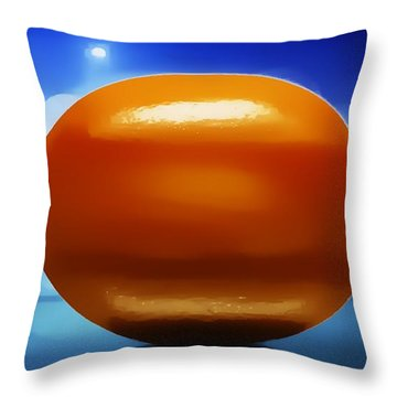 Throw Pillow featuring the photograph Lemon by Aaron Berg