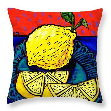 Lemon And Two Slices Throw Pillow