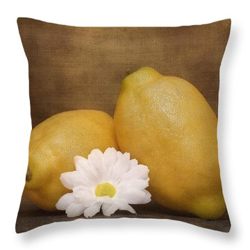 Lemon Fresh Still Life Throw Pillow