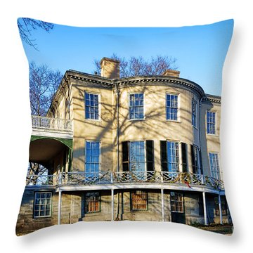 Lemon Hill Mansion Throw Pillow by Olivier Le Queinec