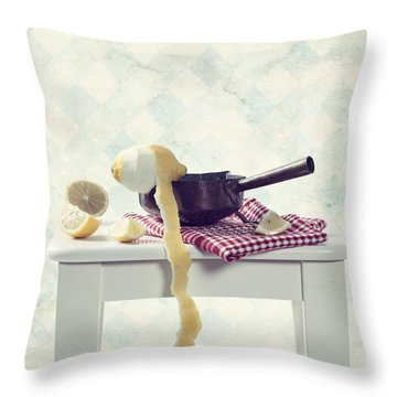 Lemon Throw Pillow by Joana Kruse