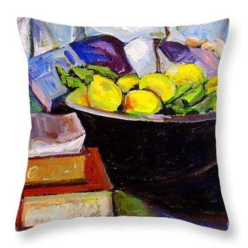 Lemon Meringue Throw Pillow by Charlie Spear