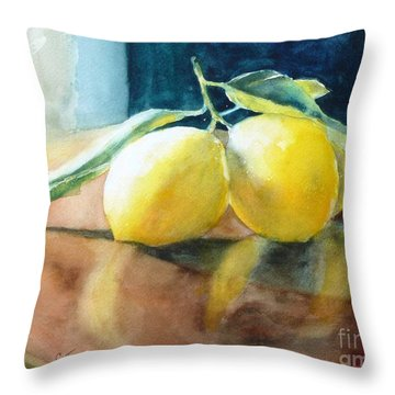 Lemon Reflections Throw Pillow