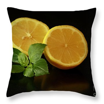 Lemon Splendor Throw Pillow by Inspired Nature Photography Fine Art Photography