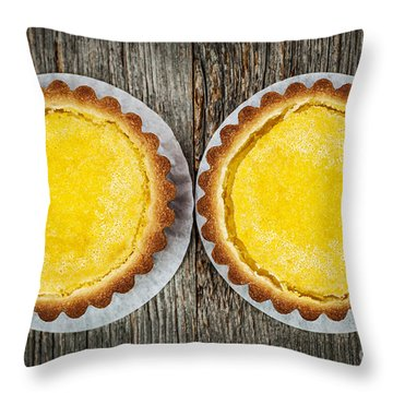 Lemon Tarts Throw Pillow by Elena Elisseeva