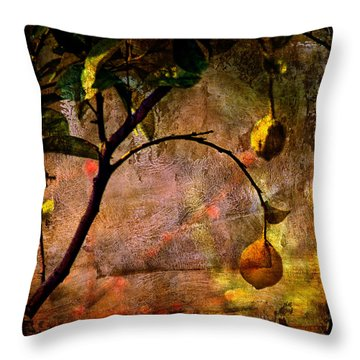 Lemon Tree Throw Pillow