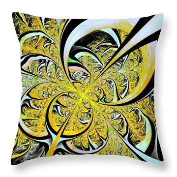 Lemon Twist Throw Pillow by Anastasiya Malakhova