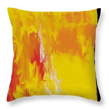 Lemon Yellow Sun Throw Pillow by Roz Abellera Art