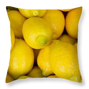 Lemons 1 Throw Pillow