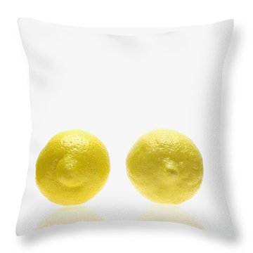 Lemons And Lime Throw Pillow by Kelly Redinger