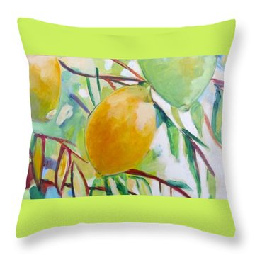 Lemons And Lime Throw Pillow