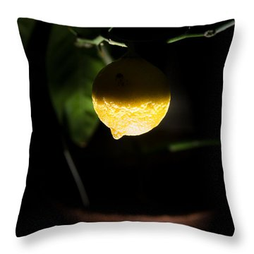 Lemon's Planet Throw Pillow