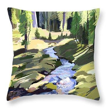 Lena Peak Stream Throw Pillow
