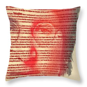 Lennon  Throw Pillow by Mark Ashkenazi