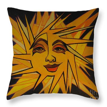 Lenny - Here Comes The Suns Throw Pillow
