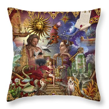 Lenormand Throw Pillow by  Ciro Marchetti