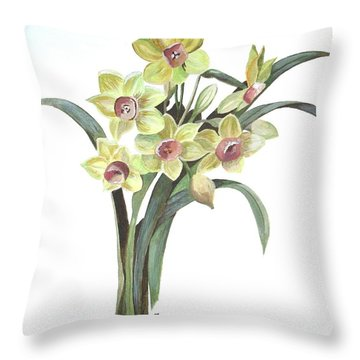 Lent Lily Throw Pillow by Tracey Harrington-Simpson