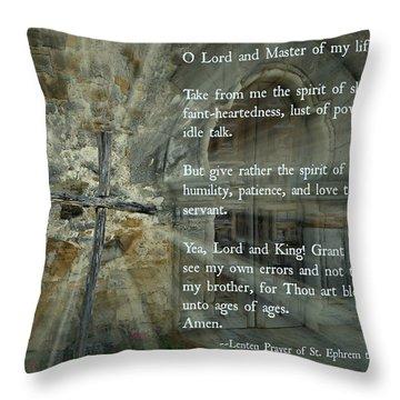 Lenten Prayer Of Saint Ephrem The Syrian Throw Pillow
