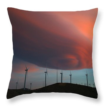 Lenticular Cloud At Sunset Throw Pillow by Jane Axman