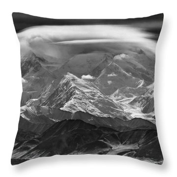 101366-lenticular Cloudcap Over Mt. Mckinley Throw Pillow