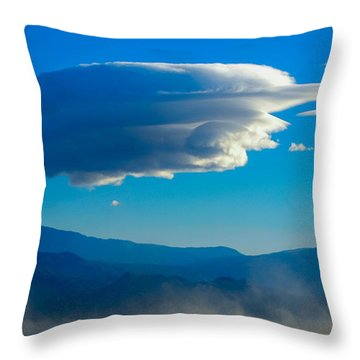Lenticular Dust Storm Throw Pillow by Angela J Wright