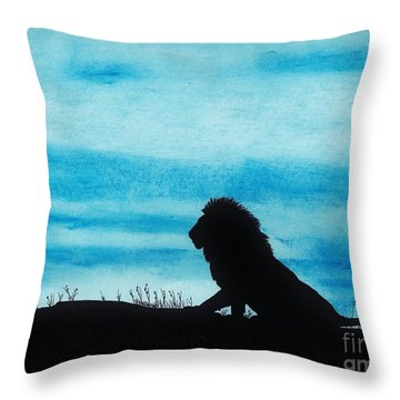 Leo At Sunset Throw Pillow