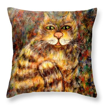 LEO Throw Pillow by Natalie Holland