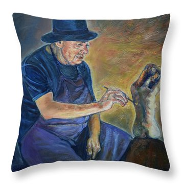 Figurative Painting Throw Pillow