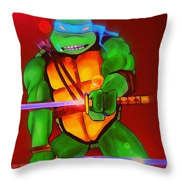 Leo Slash Focus Throw Pillow